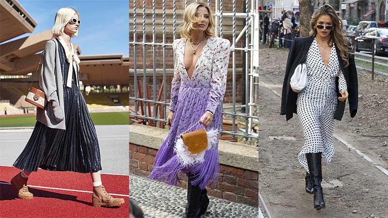 Streetstyle mode voorjaar 2021. Zomerjurken