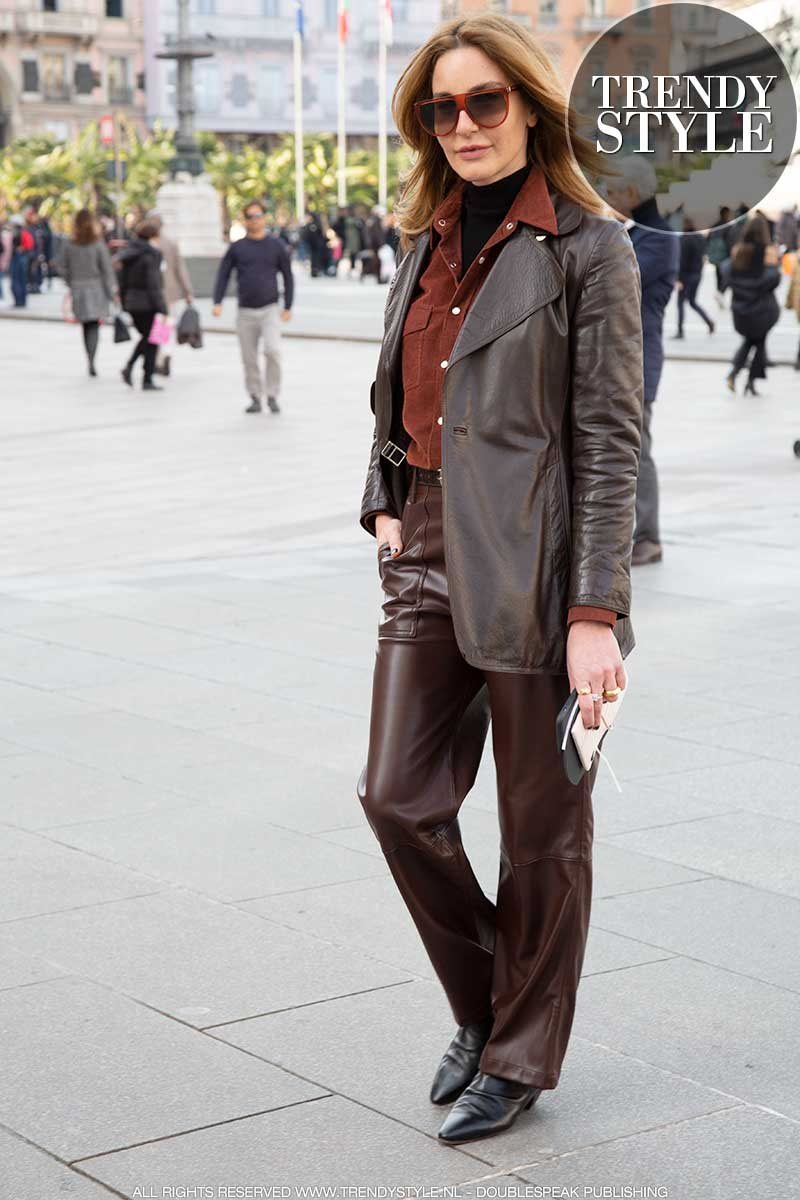 Modetrends voorjaar 2020. 3x Leerlooks!