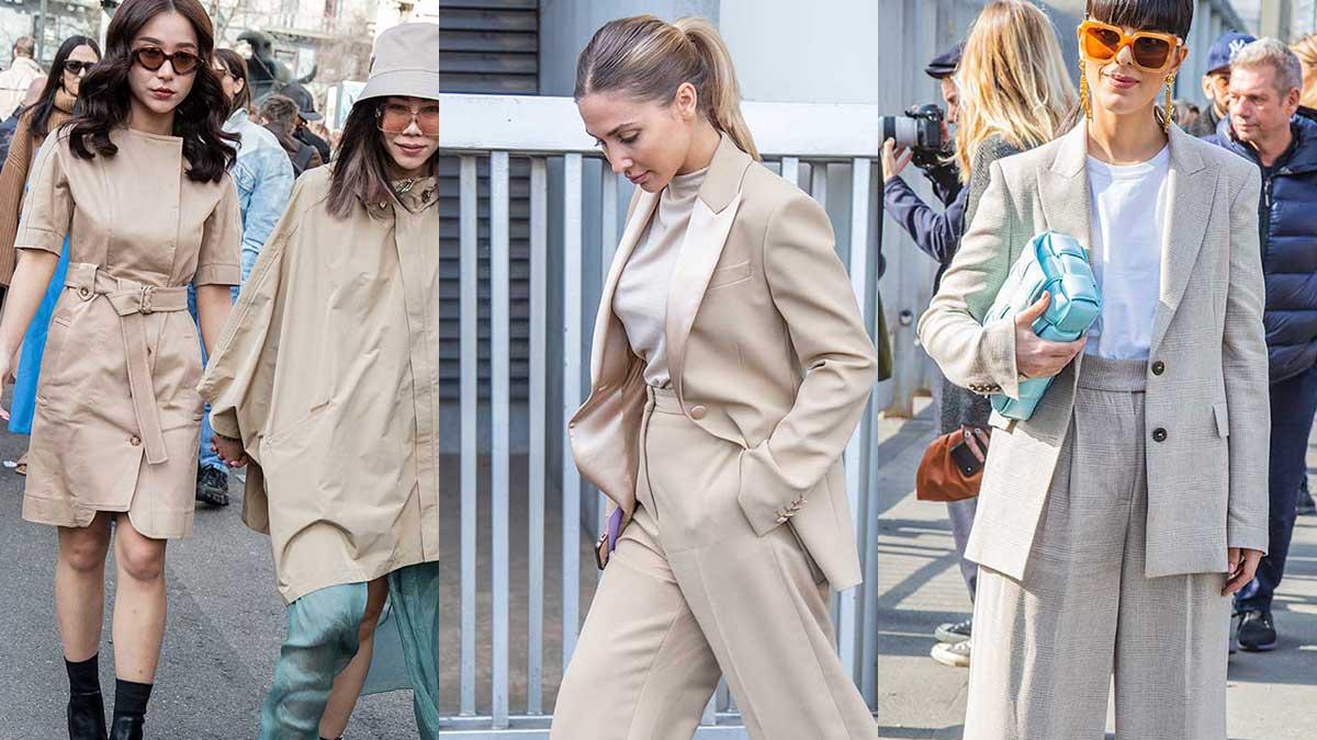 Streetstyle mode 2020. De ultieme kleuren van nu? Superneutral! Foto: Charlotte Mesman