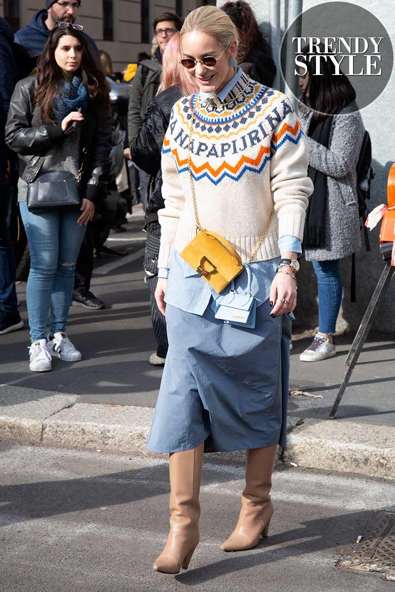 Streetstyle mode voorjaar 2020. Comfort truien