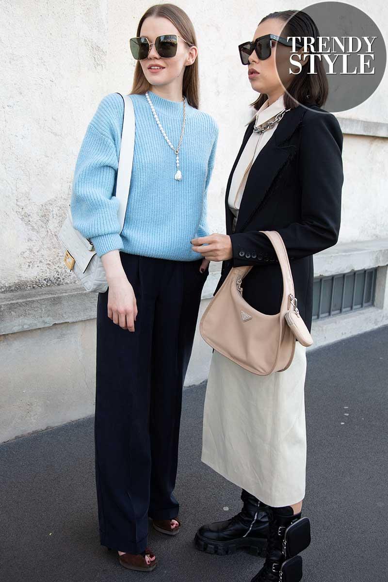 Streetstyle mode voorjaar 2020. Comfort truien!
