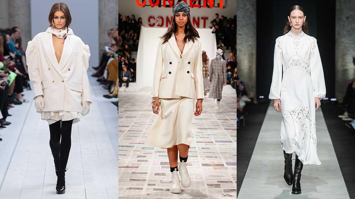 Modetrends herfst winter 2020. Wit als wintermode kleur