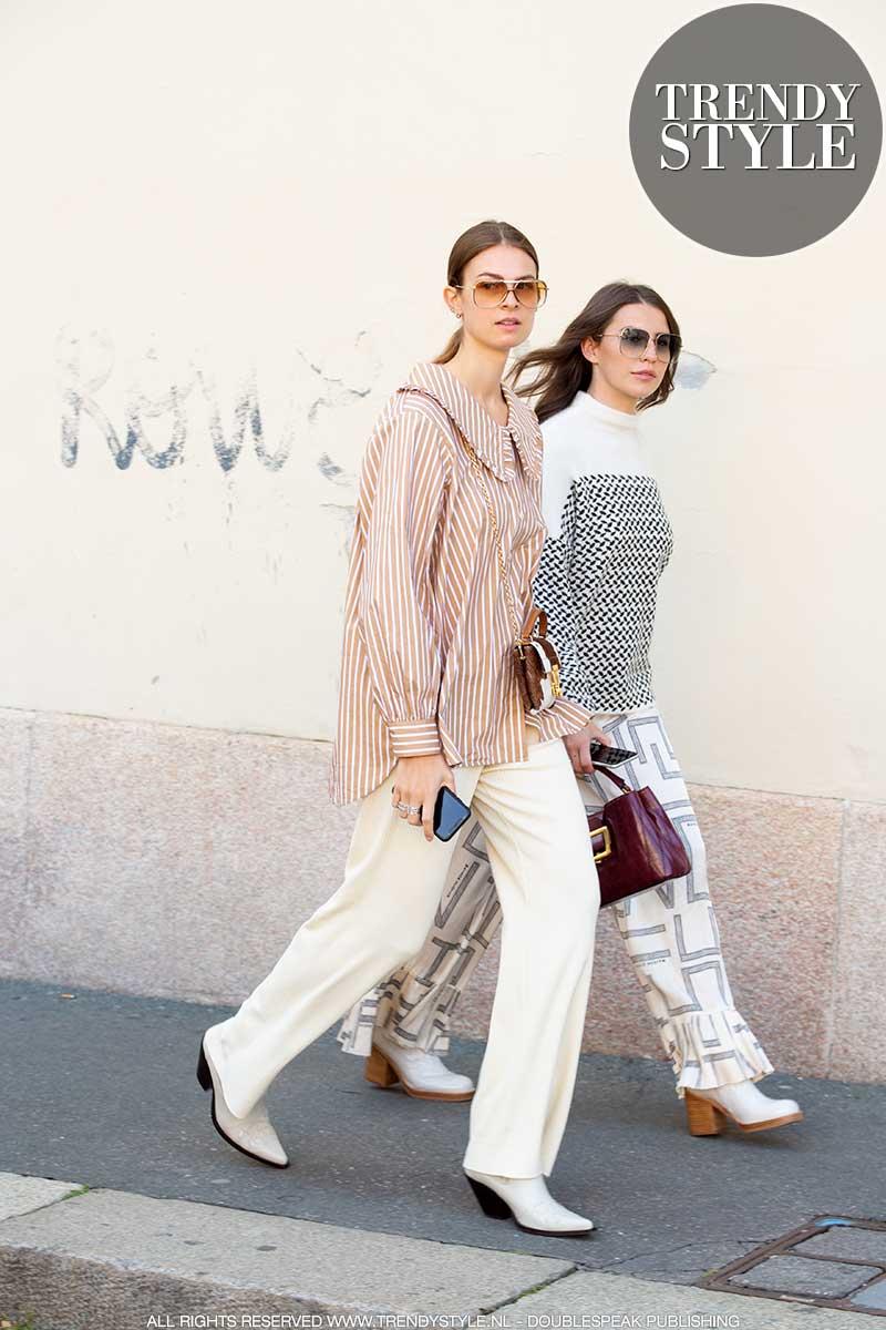 Streetstyle mode 2021. Witte zomerbroeken. Jouw stijlgidsje. Foto: Charlotte Mesman