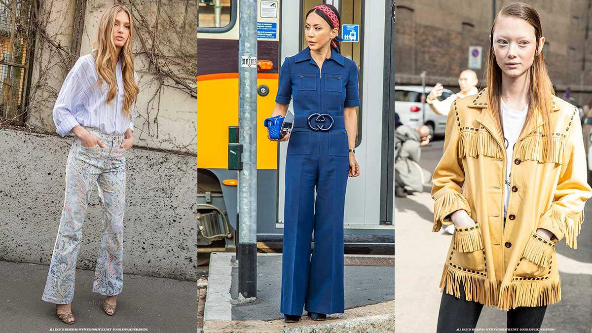 Streetstyle zomer 2020. Hoe seventies is jouw modelook? Foto: Charlotte Mesman