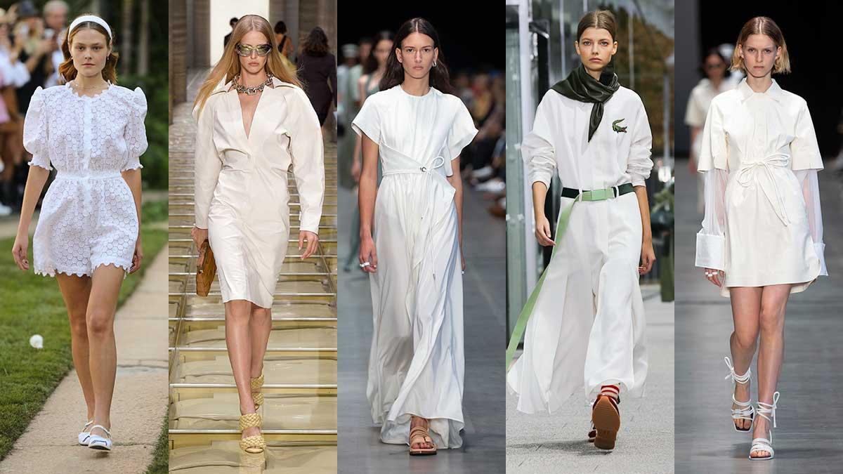 Modetrends zomer 2020. Wit is de (niet)kleur bij uitstek. Total white modelooks