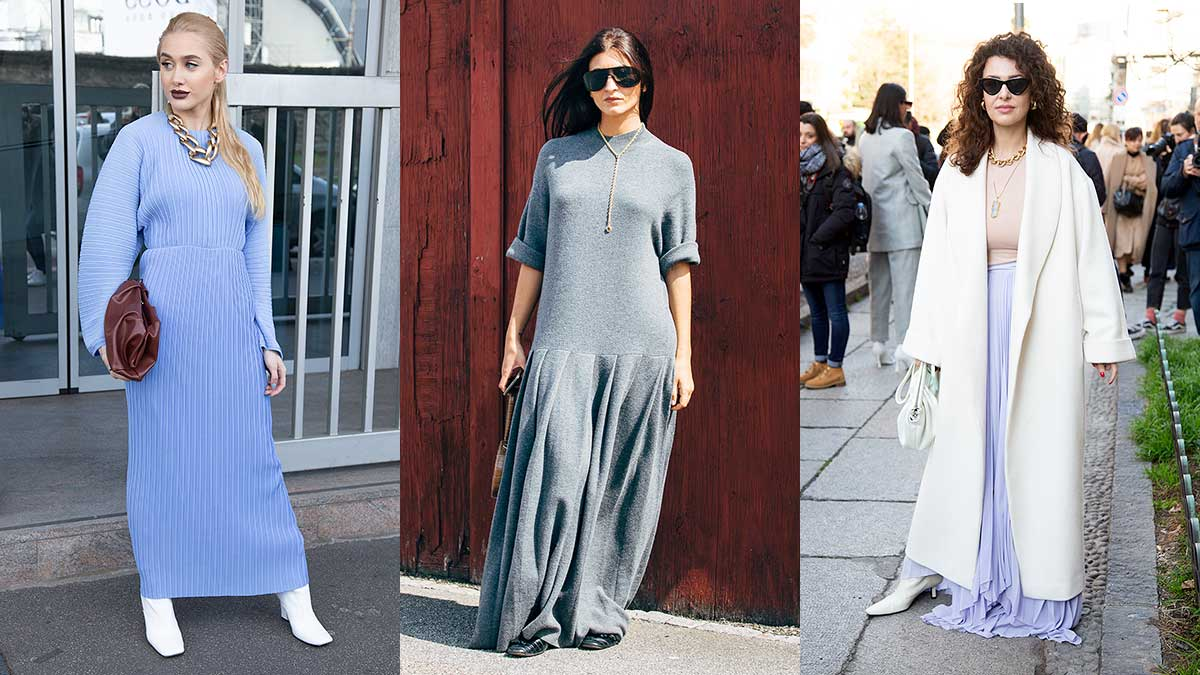 Modetrends lente zomer 2020. Maxi-jurken