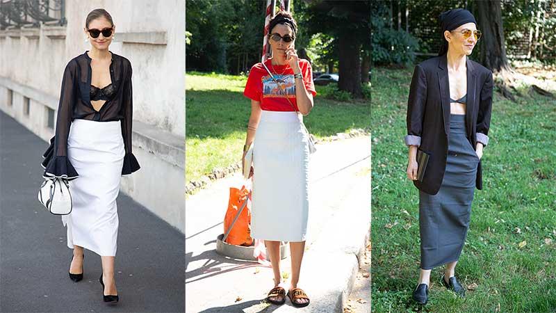 Modetrends 2020. Zo wordt je rechte zomerrok trendy