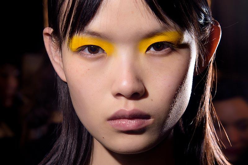Gekleurde oogmake-up. Make-up trends herfst winter 2018 2019