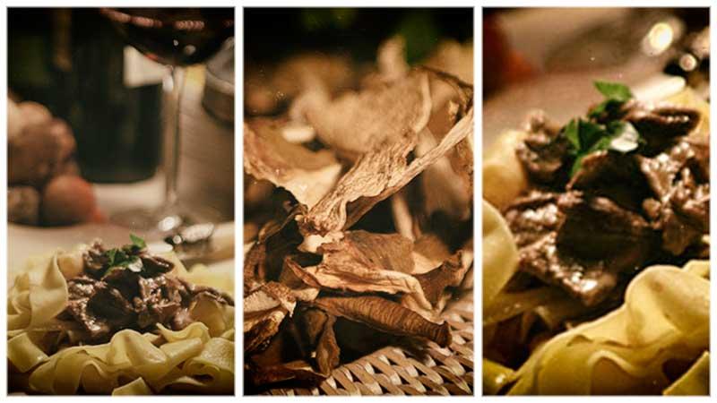 Kookrecept. Pasta met paddenstoelen. Een herfstige pastaschotel