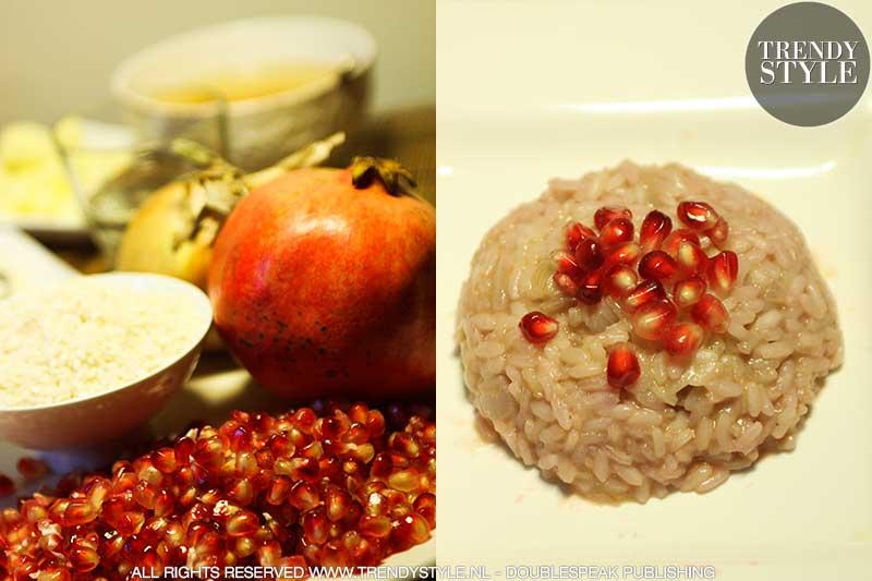 Risotto met granaatappel. Een recept voor verliefde mensen