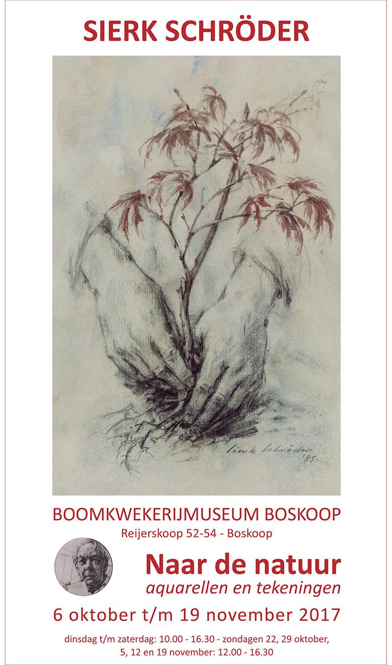 'Naar de natuur', tentoonstelling van Sierk Schröder in het Boomkwekerijmuseum in Boskoop
