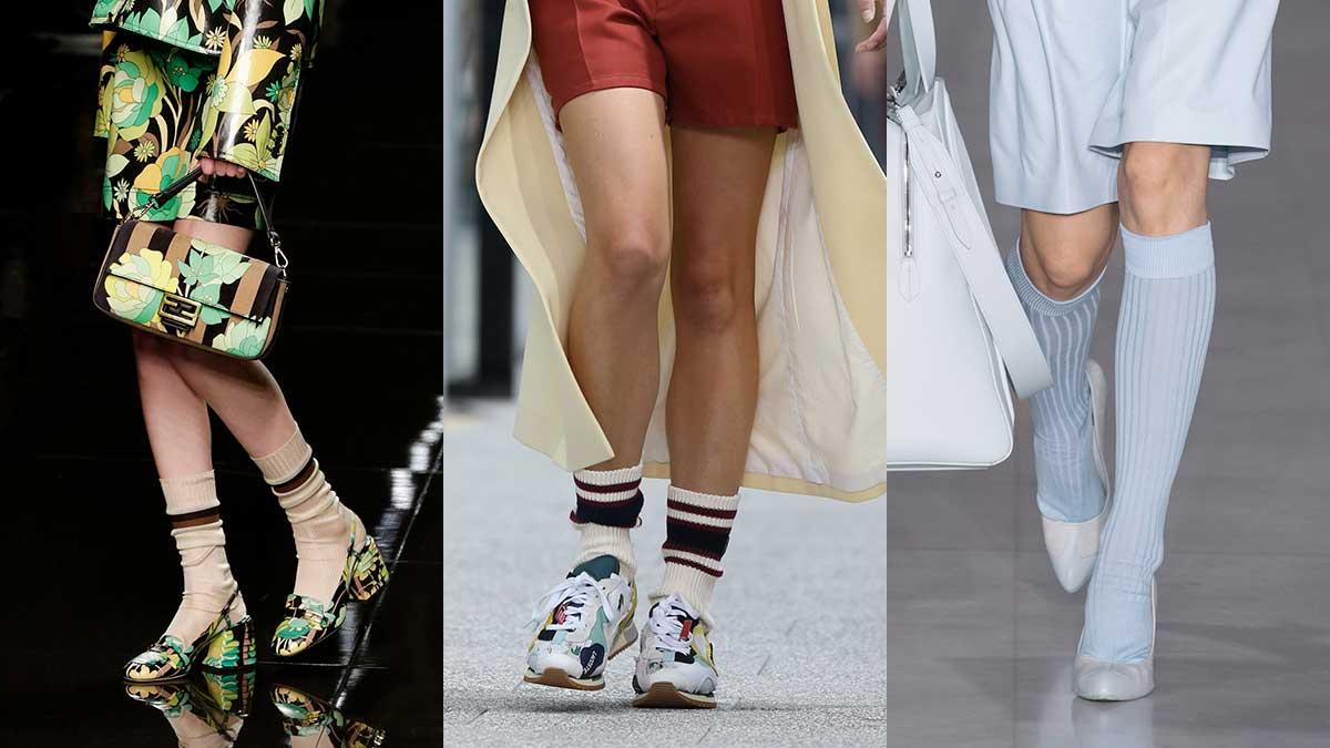 Modetrends lente zomer 2020. Sokken en kousen