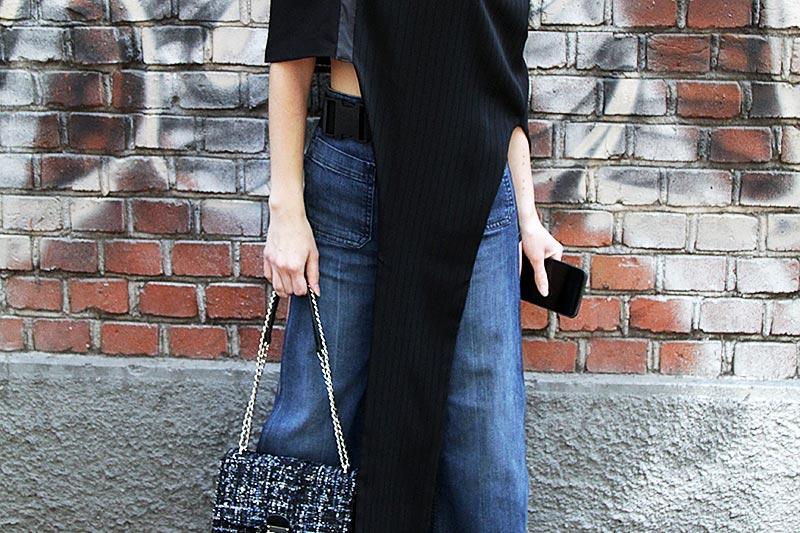 Street style. Chic in spijkerbroek
