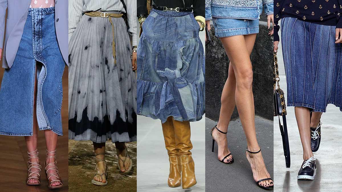 Spijkerrokken trends lente zomer 2020