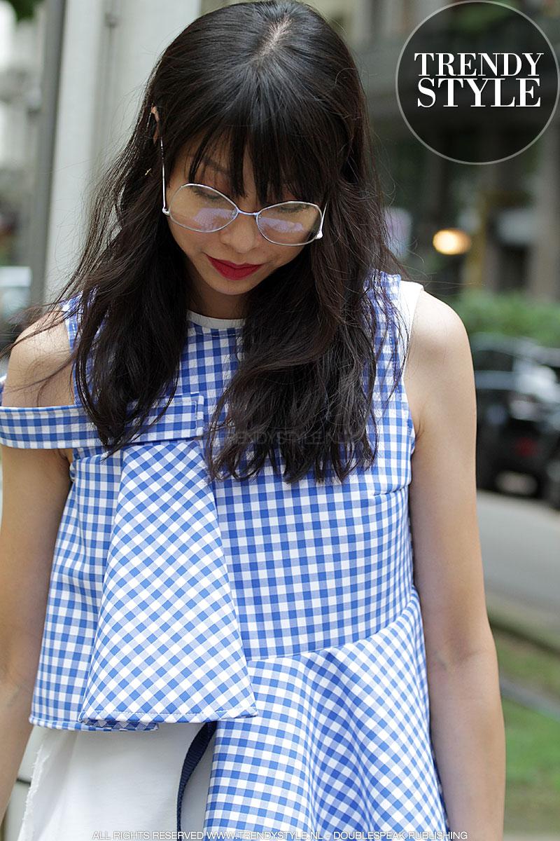 Blauwwitte mode