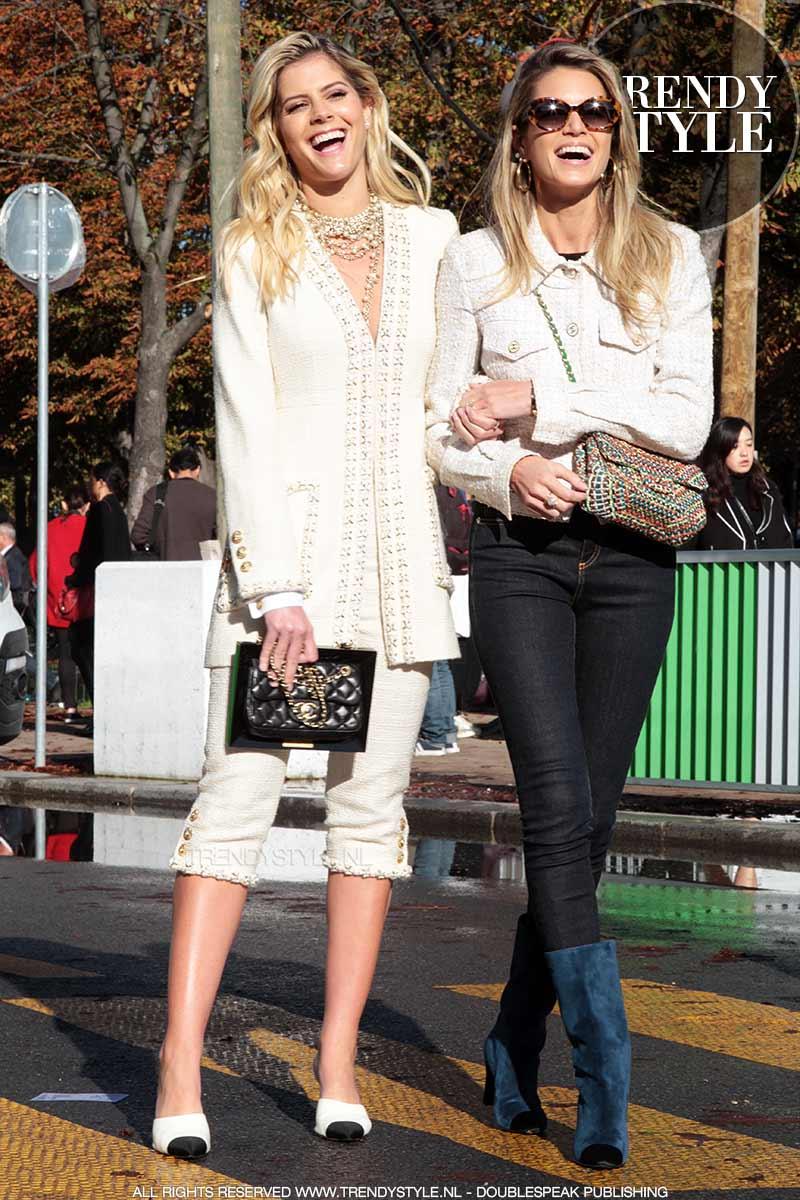 Street style bij Chanel