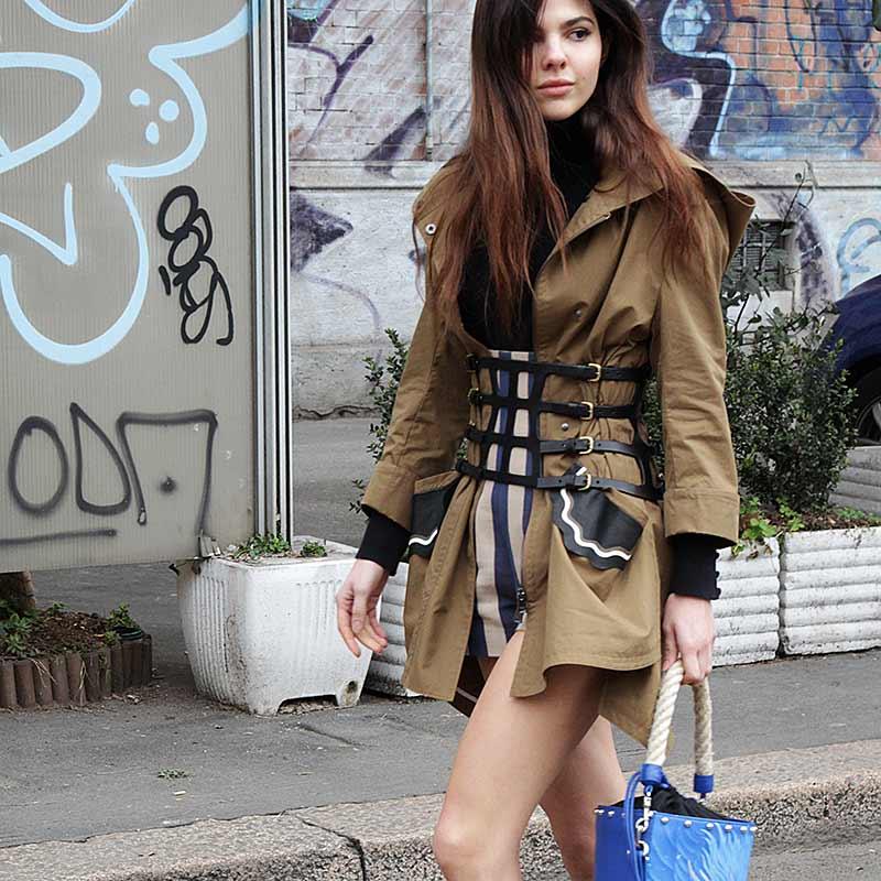 Streetstyle vrouw herfst 2017
