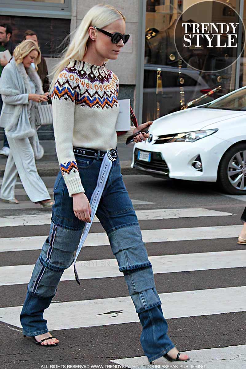 Streetstyle. Spijkerbroeken trends