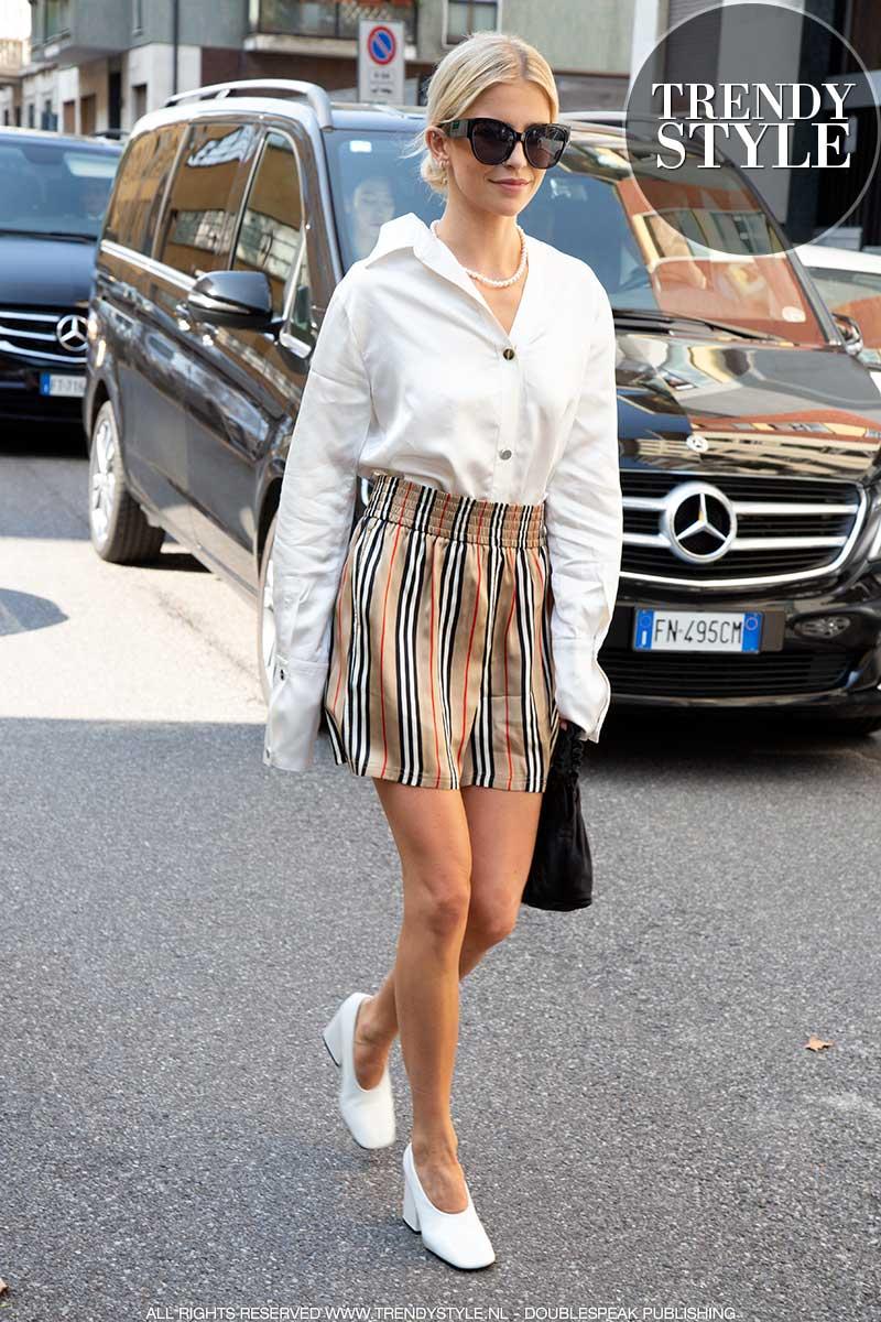 Streetstyle mode zomer 2020. Minirokken en shorts