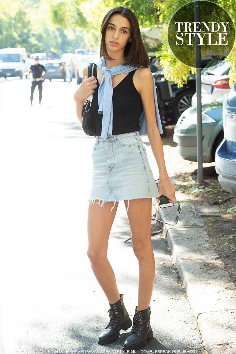 Streetstyle mode zomer 2021. Minirokken