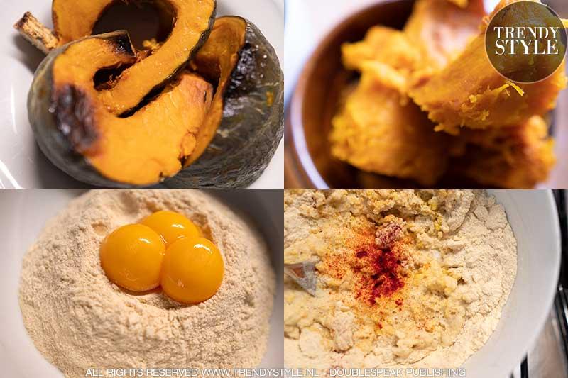 Koken in de herfst. Tortelli (ravioli) met pompoenvulling