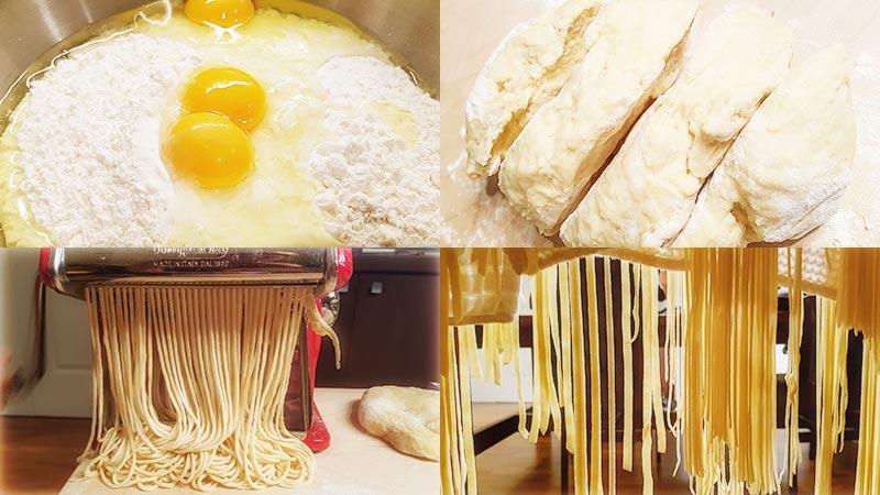 Verse tagliatelle en verse spaghetti maken