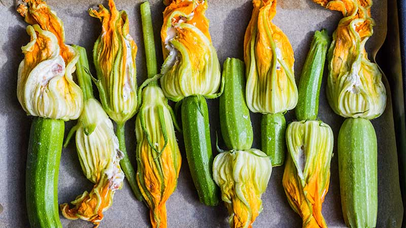 Courgette risotto en courgette soep