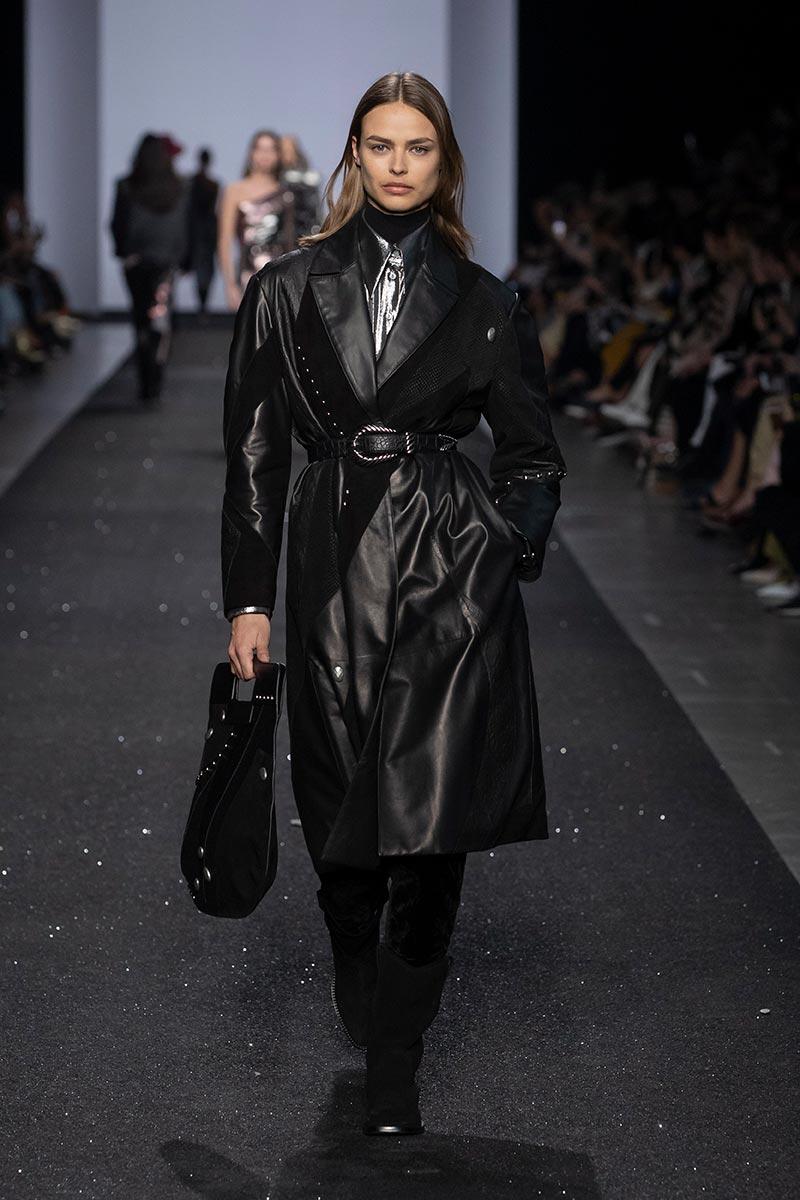 Mode trend herfst winter 2019 2020: zwart leer