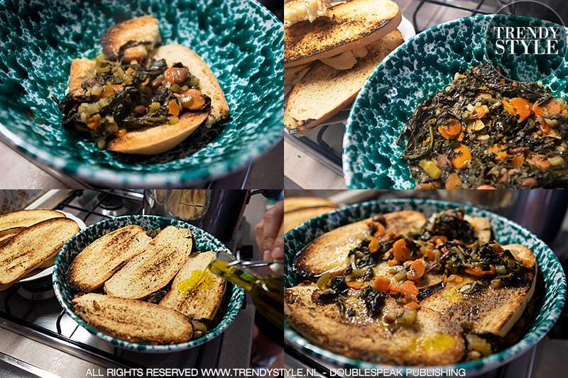 Koken in de herfst. Zwarte koolsoep naar Toscaans recept. Foto: Charlotte Mesman